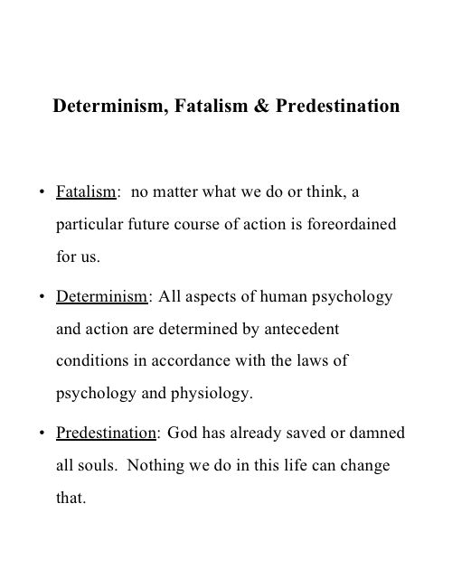Help with a philosophy paper about fatalism?