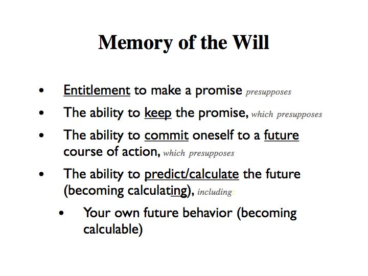 Memory of the Will